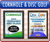 Cornhole and Disc Golf Trophies