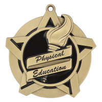 "2-1/4"" Physical Education Star Medallion"