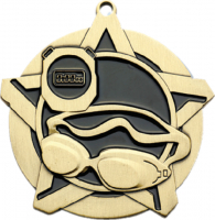 "2-1/4"" Swimming Star Medallion"