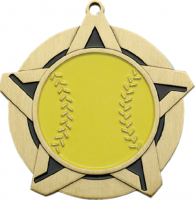 "2-1/4"" Softball Star Medallion"