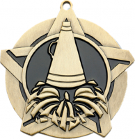 "2-1/4"" Cheer Star Medallion"