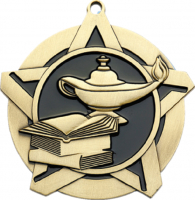 "2-1/4"" Lamp of Knowledge Star Medallion"