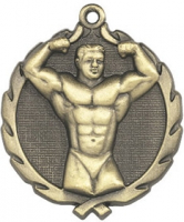 "1-3/4"" Body Building Medallion"