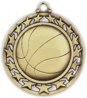 "2-1/2"" Basketball Medallion"