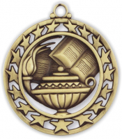 "2-1/2"" Lamp of Knowledge Medallion"