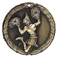 "2"" Cheerleader (female) Medallion"