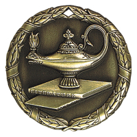 "2"" Lamp of Knowledge Medallion"
