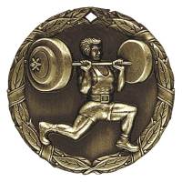 "2"" Weight Lifter Medallion"