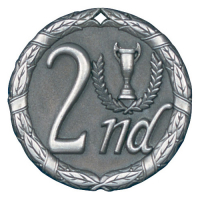 "2"" 2nd Place Medallion"