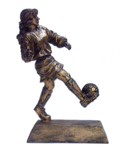 Soccer Female Ball on Foot