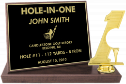 "6 x 8-inch ""Hole-in-One Billboard"" Trophy  - BBFS7"