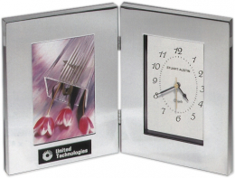 6-1/4 x 8-1/4 x 2-inch Clock/Photo Frame