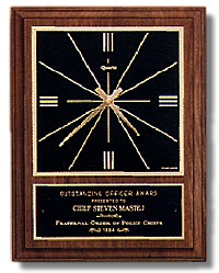 9 x 12-inch Plaque with Clock