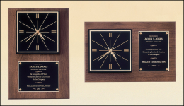 12 x 18-inch Plaque with Clock