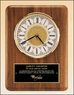 11 x 15-inch Plaque with Clock