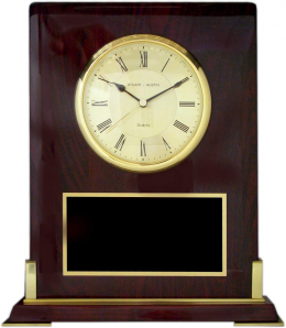 8 3/8 x 10 x 2 1/2-inch Plaque with Clock