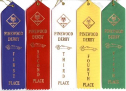 Pinewood Derby Ribbon Package
