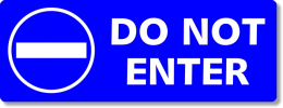 "Do-Not-Enter Sign -  8"" x 3"""