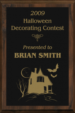 Halloween Decorating Contest Plaque