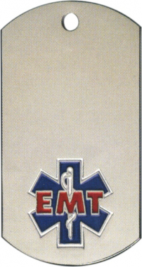 EMT Dog Tag Medal