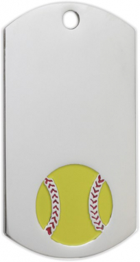 Softball Dog Tag Medal