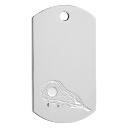 Lacrosse Dog Tag Key Ring