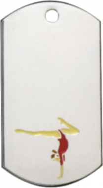 Gymnastics Dog Tag Key Ring