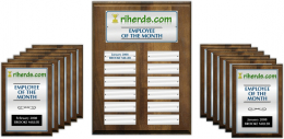 Color Employee Recognition Plaque Package