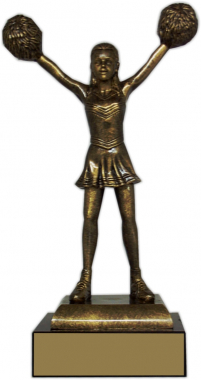 "10-inch Cheerleader ""Prestige"" Trophy"