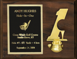 "9"" x 12"" Hole-in-One/Double Eagle Plaque"