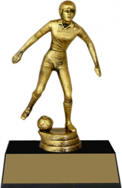 "7-inch Female Soccer Player ""Competitor"" Trophy"