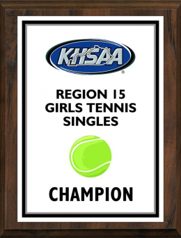 KHSAA Tennis Color Regional All Tournament/MVP Plaques