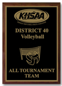 KHSAA Volleyball District/Regional All Tournament/MVP Plaques