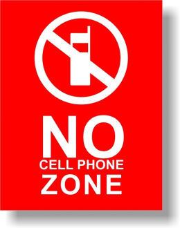 "5"" x 6-1/2"" No-Cellphone Sign"