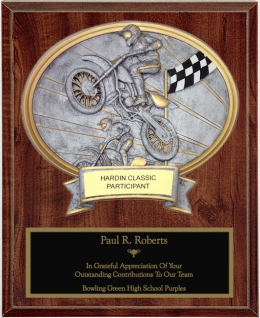 Motocross Oval Plaque