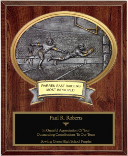 Football Oval Plaque