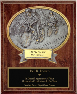 Road Bike Oval Plaque