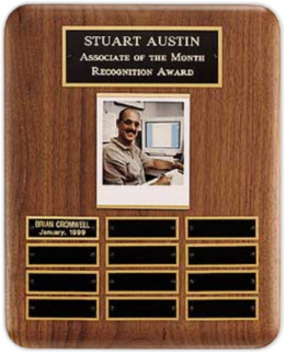 "10-1/2"" x 13"", 12-plate Perpetual Plaque"