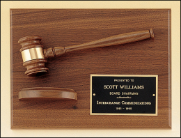 "9"" x 12"" Gavel Plaque"