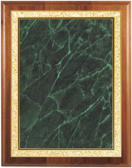 "6"" x 8"" Plaque with Green Florentine Plate"