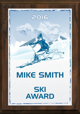 Color Skiing Plaque