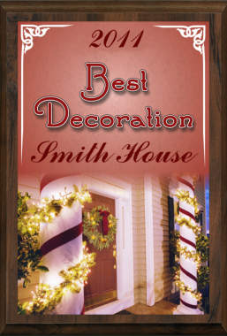 Color Christmas Best Decoration Plaque