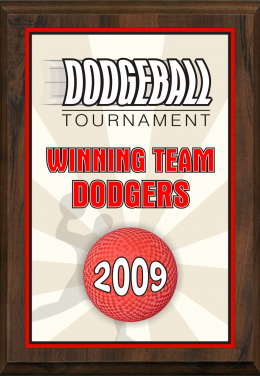 Color Dodgeball Plaque