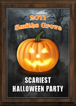 Color Halloween Scariest Party Plaque