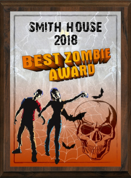 "5"" x 7"" Color Halloween Zombie Plaque"