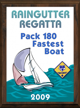 Cub Scout Color Raingutter Regatta Plaque