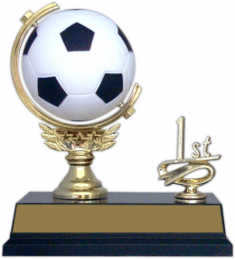 "6-inch ""Soccer Spinner with Side Trim"" Trophy"