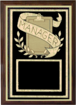 Team Manager Plaque