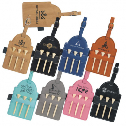 Laserable Leatherette Golf Bag Tag