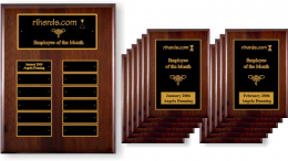 Employee Recognition Plaque Package